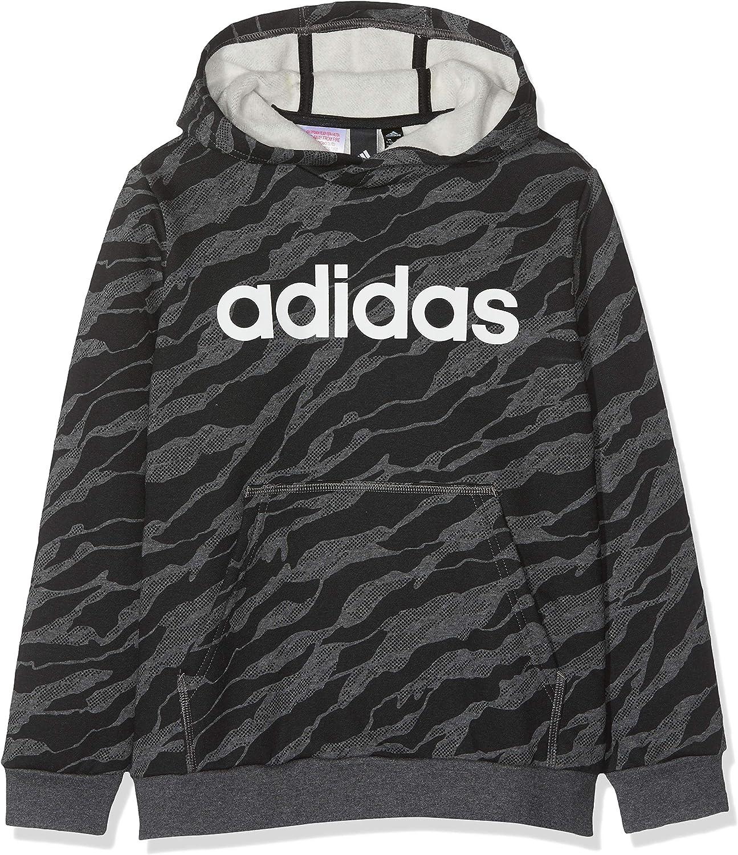 adidas Jungen Linear Hood Kapuzen Sweatshirt