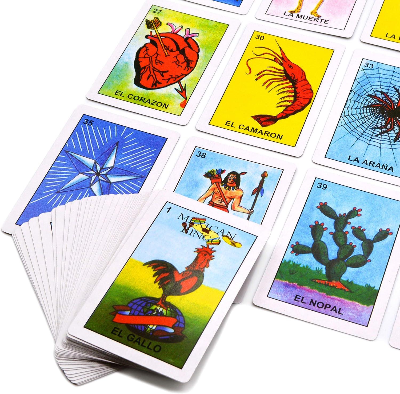 Loteria Game – Bingo Mexicano – 10 Jugadores, 54 Cartas (Loteria Mexicana): Amazon.es: Juguetes y juegos