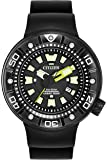 Citizen Watch Promaster Diver Men's Solar Powered Watch with Black Dial Analogue Display and Black Stainless Steel Strap Bn0175-19E