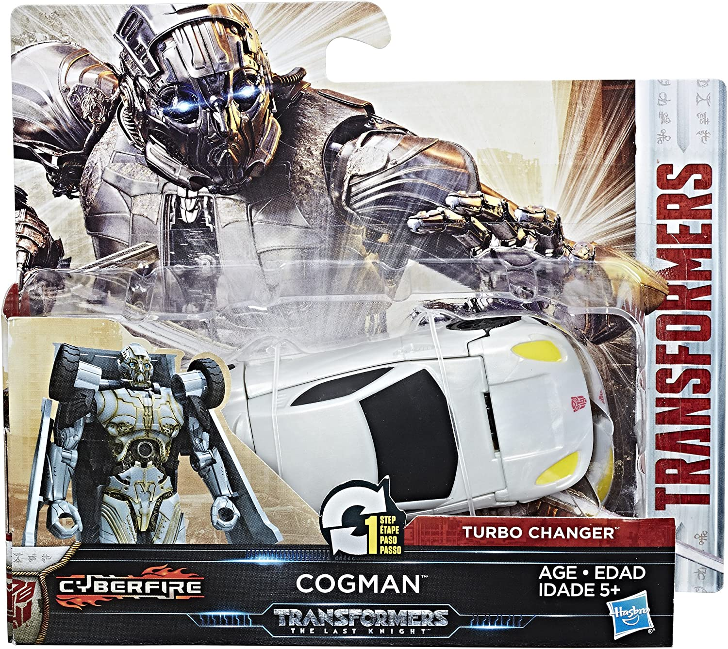 Transformers The Last Knight 1-Step Turbo Changer Figures Choice of 7 Inc Scorn