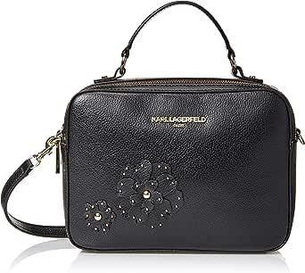Karl Lagerfeld Paris womens Miranda Hermine Embellished Double Zip Crossbody