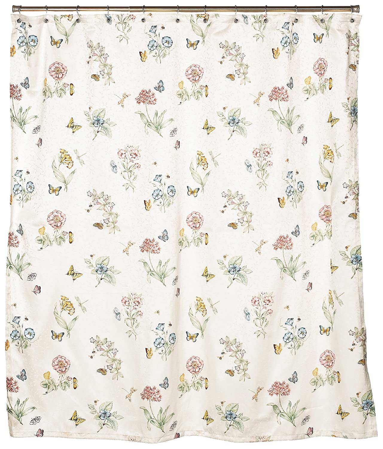 Amazon Lenox Butterfly Meadow Shower Curtain Home Kitchen