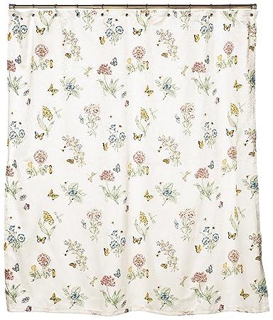 Curtains Ideas butterfly shower curtain : Amazon.com: Lenox Butterfly Meadow Shower Curtain: Home & Kitchen