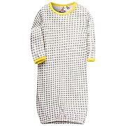 Unisex Baby Sleep Gown - 100% Cotton Soft Lightweight No-Scratch Mittens Baby Sleeping Bag - Yellow 70