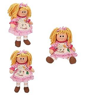 BETZ Set di 3 Bambole di pezza Camilla grandezza 30 cm Colore Rosa