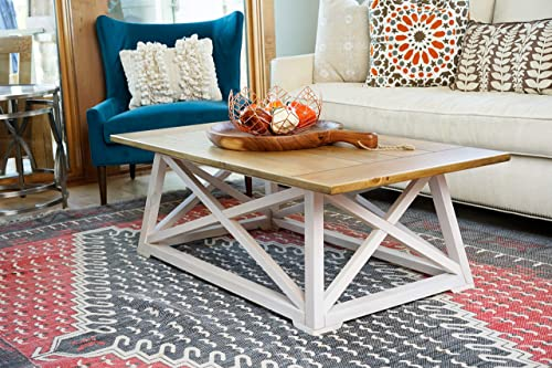 Alveare Home Fallon Coastal Coffee Table, Two-Toned