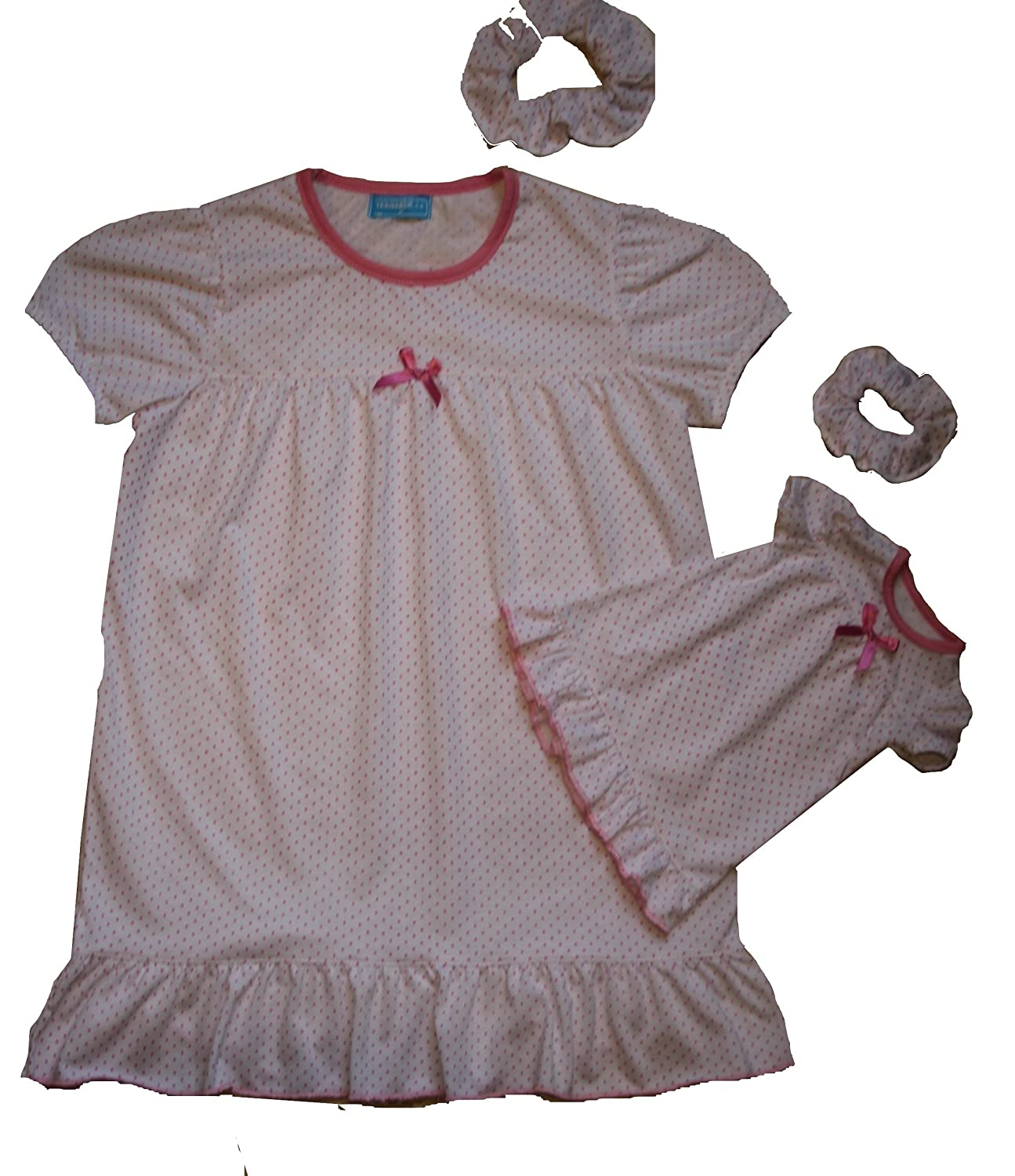 Creaciones Tasidaben Girls Matching Doll&toddler Nightgown Pajamas Kids Clothes Sleepwear