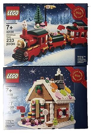 Amazon.com: LEGO Christmas Train (40138) and Gingerbread House ...
