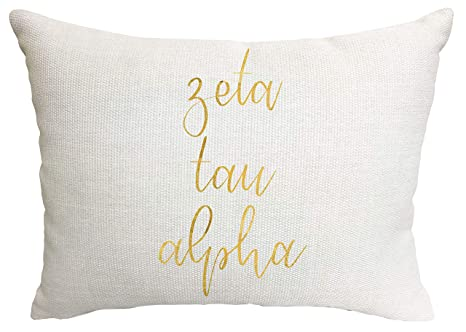Amazon.com: Zeta Tau Alpha Sorority - Almohada: Home & Kitchen