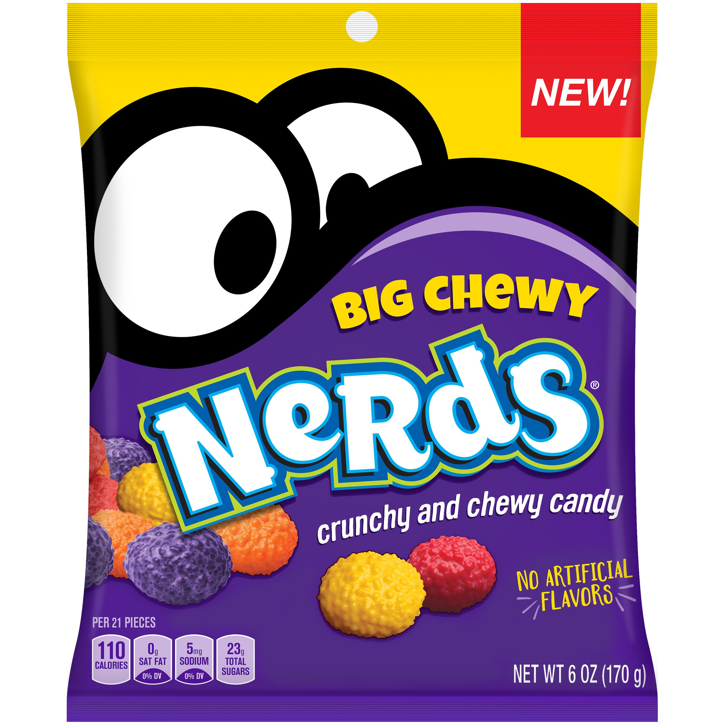 Nerds Big Chewy Candy, 6 Ounces (Pack of 12) by Nerds