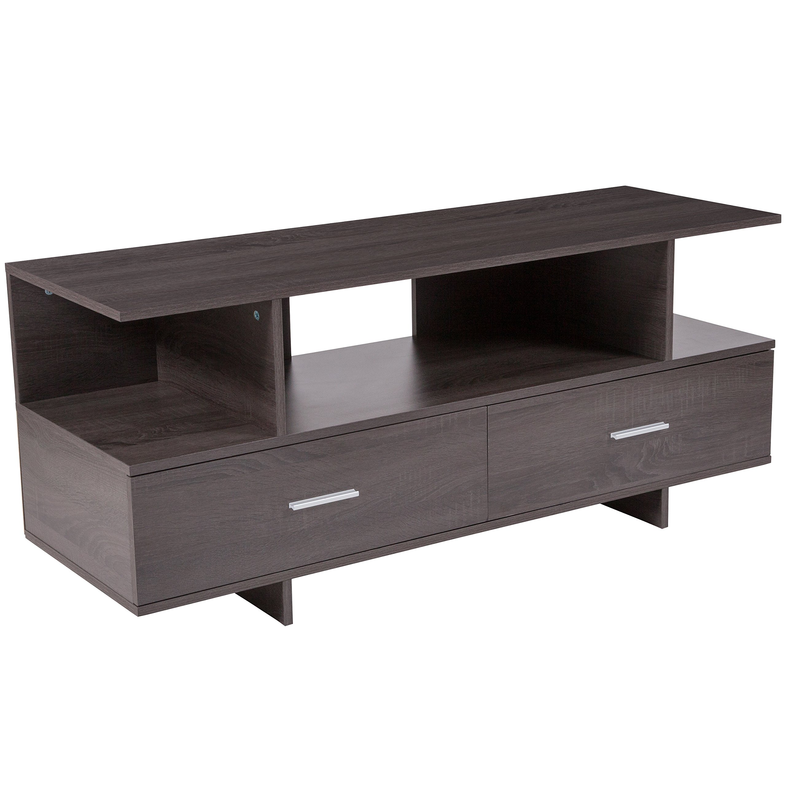 Flash Furniture Fields Driftwood Wood Grain Finish TV Stand and Media Console