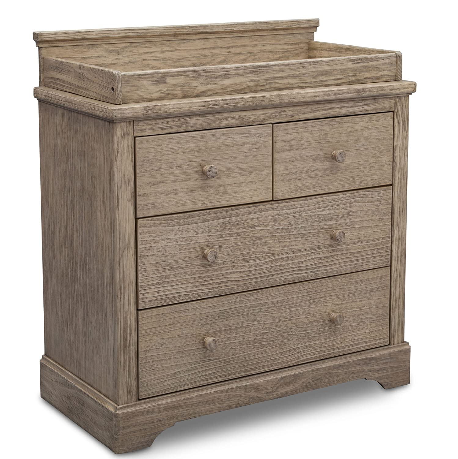 Simmons Kids SlumberTime Paloma 4 Drawer Dresser with Changing Top, Rustic Driftwood Delta Baby Dropship 328040-112