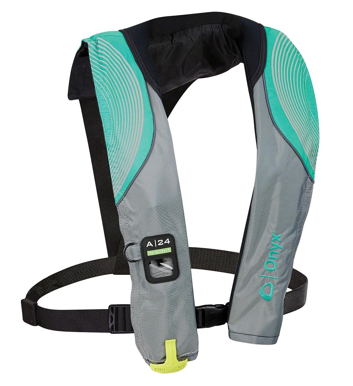 (OS, Aqua) - Onyx A - 60cm - Sight Automatic Inflatable Life Jacket