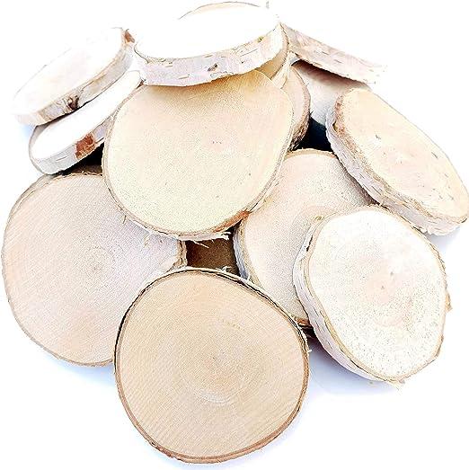 20 Discos de Abedul 6 cm de diámetro, Madera Lunas | Kleine Abedul ...