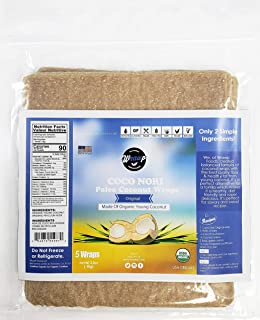 product image for Organic Coconut Wraps, 6 Pack Coco Nori Original (Raw, Vegan, Paleo, Gluten Free wraps) Made from young Thai Coconuts