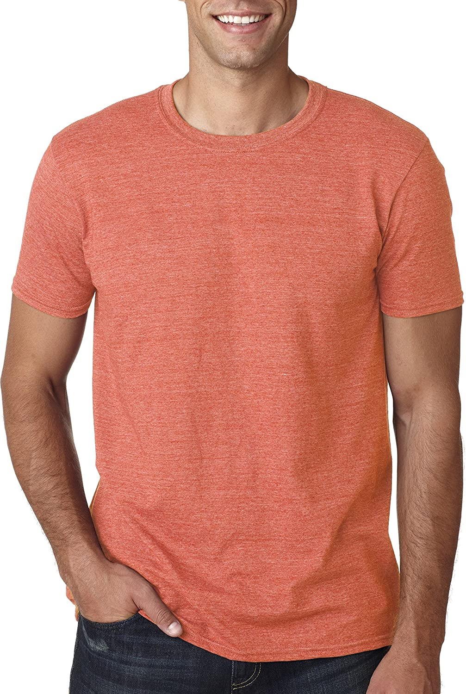 (ギルダン) Gildan メンズ ソフトスタイル 半袖Tシャツ トップス カットソー 男性用 B008LT0XP4 4L|ヘザーオレンジ ヘザーオレンジ 4L