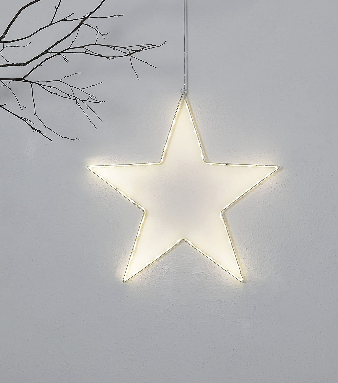 Star 804-15 Lumiwall Silhouette lumineuse /à DEL Argent 3.5 x 50.0 x 50.0 cm M/étal