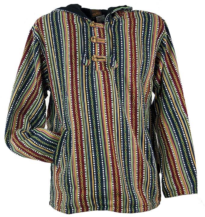 a0668d4e16 Guru-Shop Goa Kapuzenshirt, Baja Hoody, Herren, Baumwolle, Sweatshirts &  Hoodies Alternative Bekleidung: Amazon.de: Bekleidung