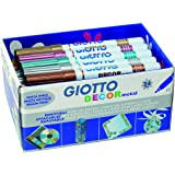 Giotto Decor Metal - Pack 24 rotuladores decorativos multisuperficie, tinta metalizada base agua