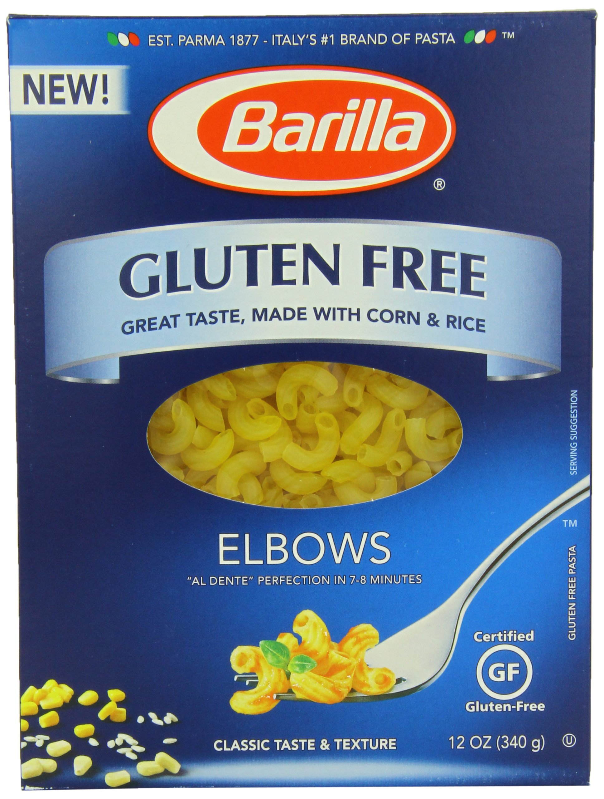 Barilla Gluten Free Pasta, Elbows, 12 Ounce (Pack of 12) by Barilla