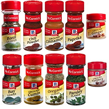 Assorted McCormick Everyday Essentials Spices Variety Pack, 10 count