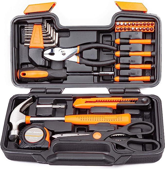 Cartman Pink 39-Piece Tool Set General Household Hand Tool Kit