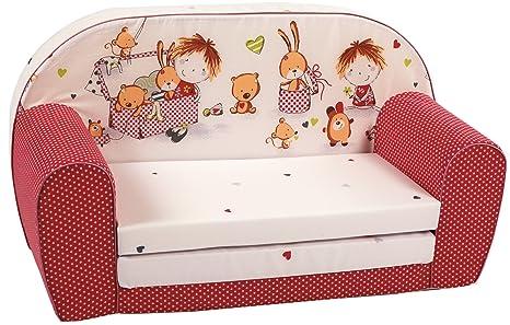 knorr-baby 430166 - Sofá para niños, color rojo: Amazon.es: Bebé