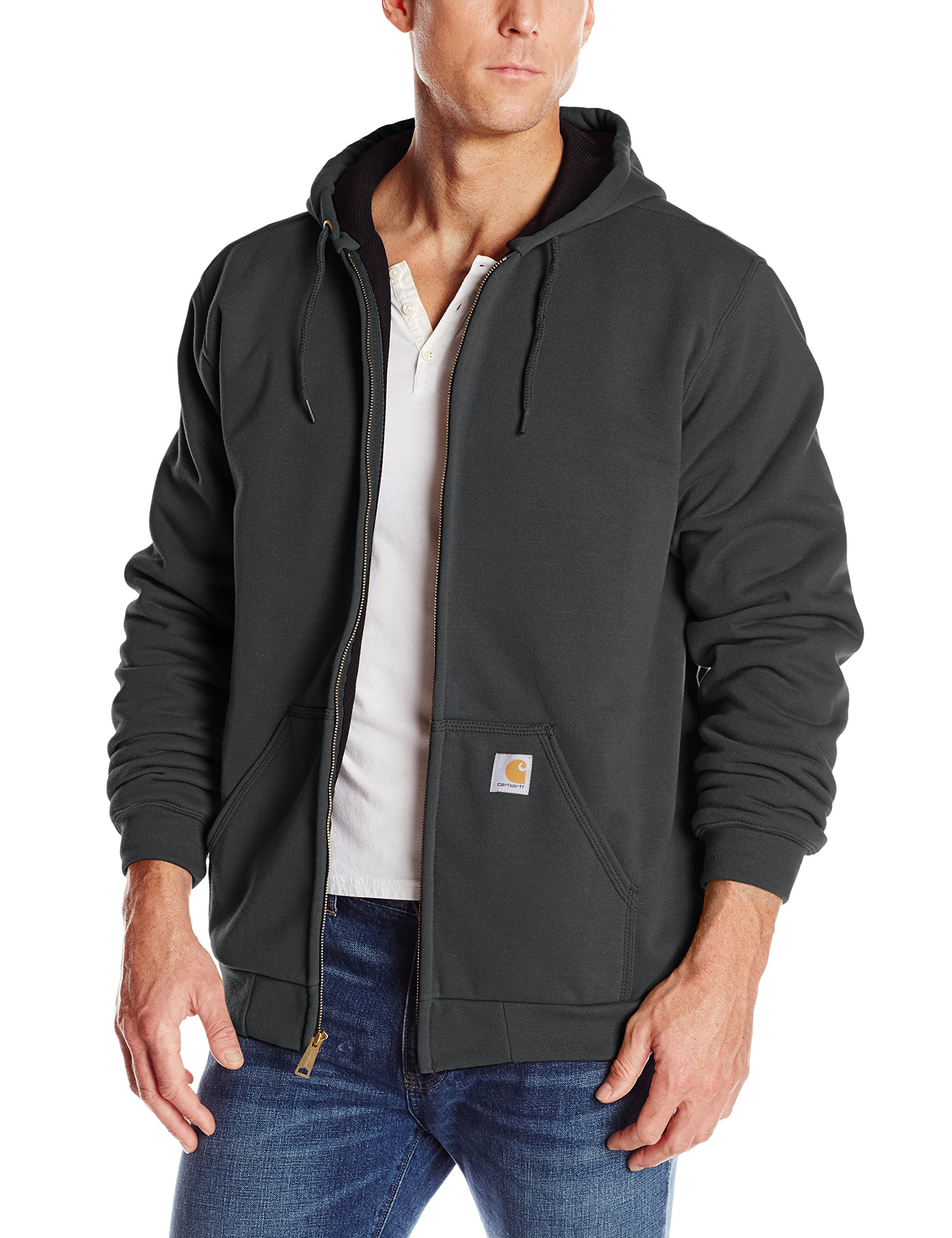 Carhartt Rutland Thermal-Lined Hooded Zip-Front Sweatshirt, Black, XX-Large Tall by Carhartt
