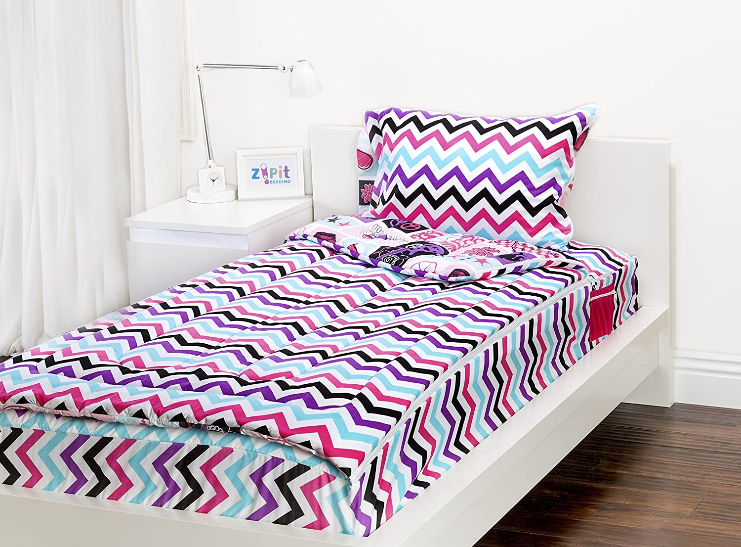 Zipit Bedding Set, Rock Princess - Twin by Zipit Bedding: Amazon.de ...