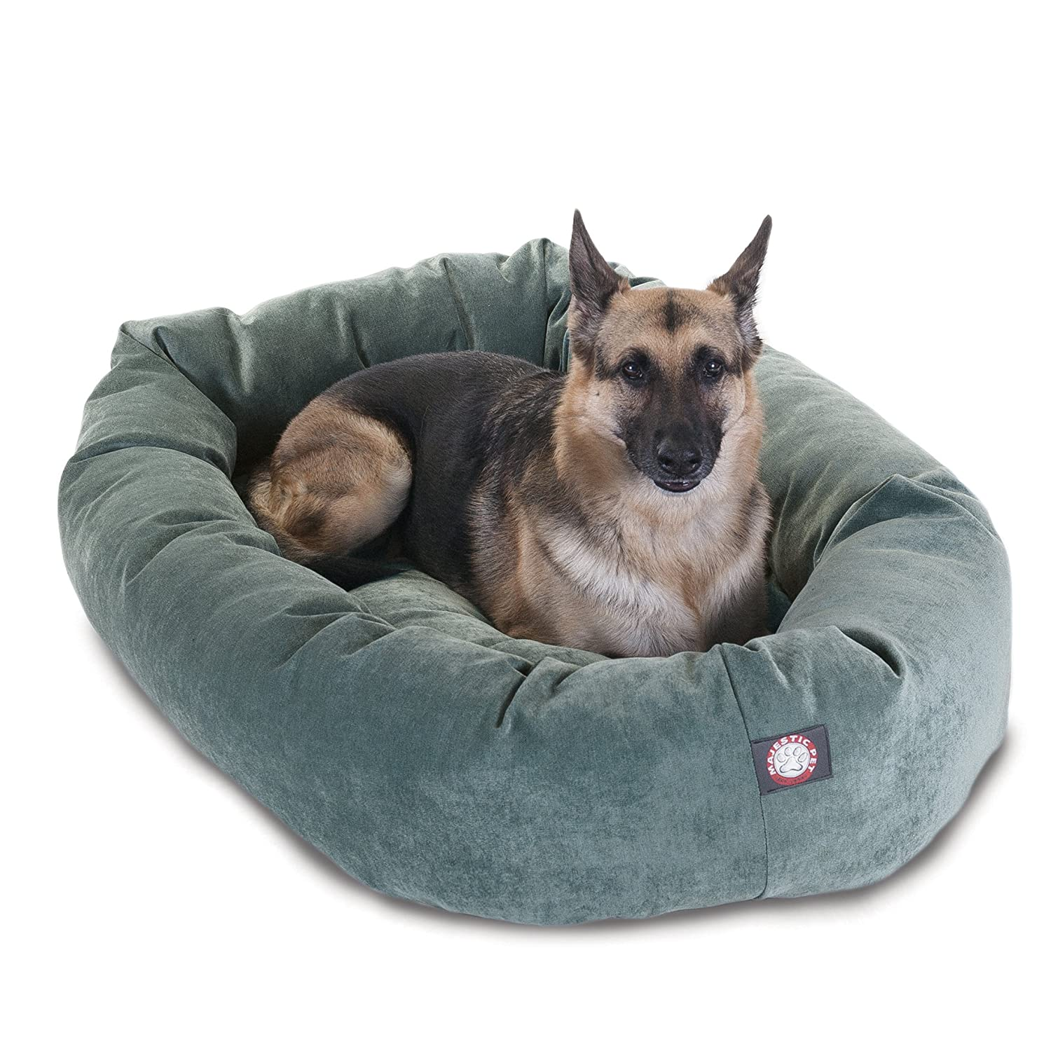 52 inch Azure Villa Collection Micro Velvet Bagel Dog Bed by Majestic Pet Products