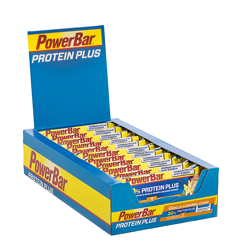 Powerbar Protein Plus Bar 30% Vanilla Caramel Crisp - 15 Barras