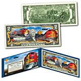 SUPER CHIEF Train of the Stars Santa Fe Railroad Collectible Art Two-Dollar Bill