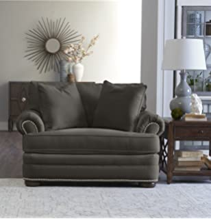 """Klaussner Home Furnishings Tilden Accent Armchair with 2 Throw Pillows, 45""""L x 54"""