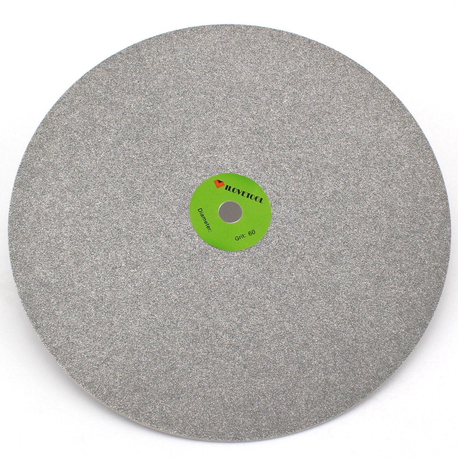 ILOVETOOL 24 inch 60 Grit Diamond Coated Flat Lap Disk Wheel