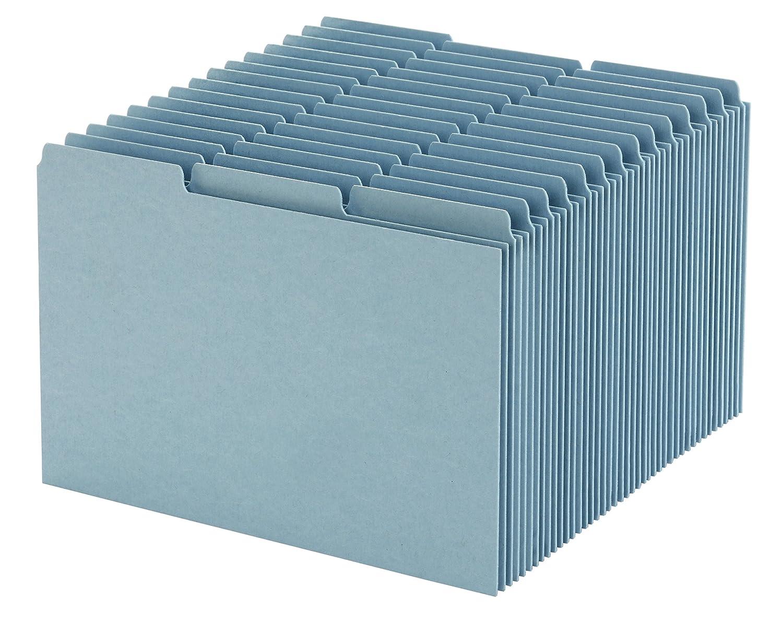 Esselte Pressboard Index Card Guides, Blank, 1/3 Cut, 8 x 5 Inches, 100 per Box, Blue (ESSP513)