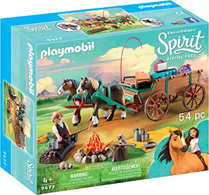Amazon.com: Playmobil Spirit Riding Free Luckys Dad with ...