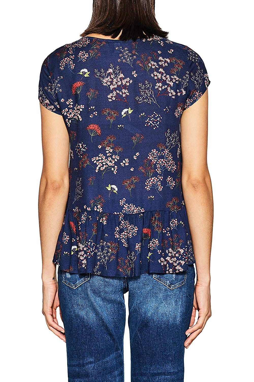 ESPRIT dam blus Multicoloured (Navy 400)