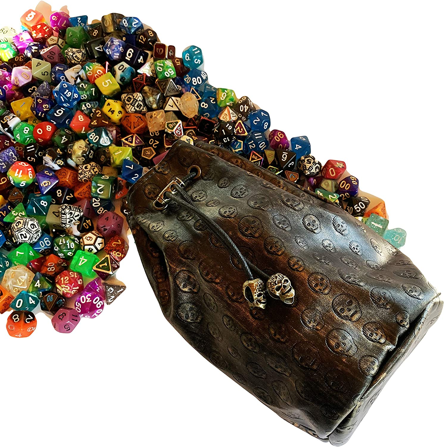 """Lot of 8 Large Multiple Color RPG Dice Bags 5 x 7/"""" Velveteen Cloth New DnD Pouch"""