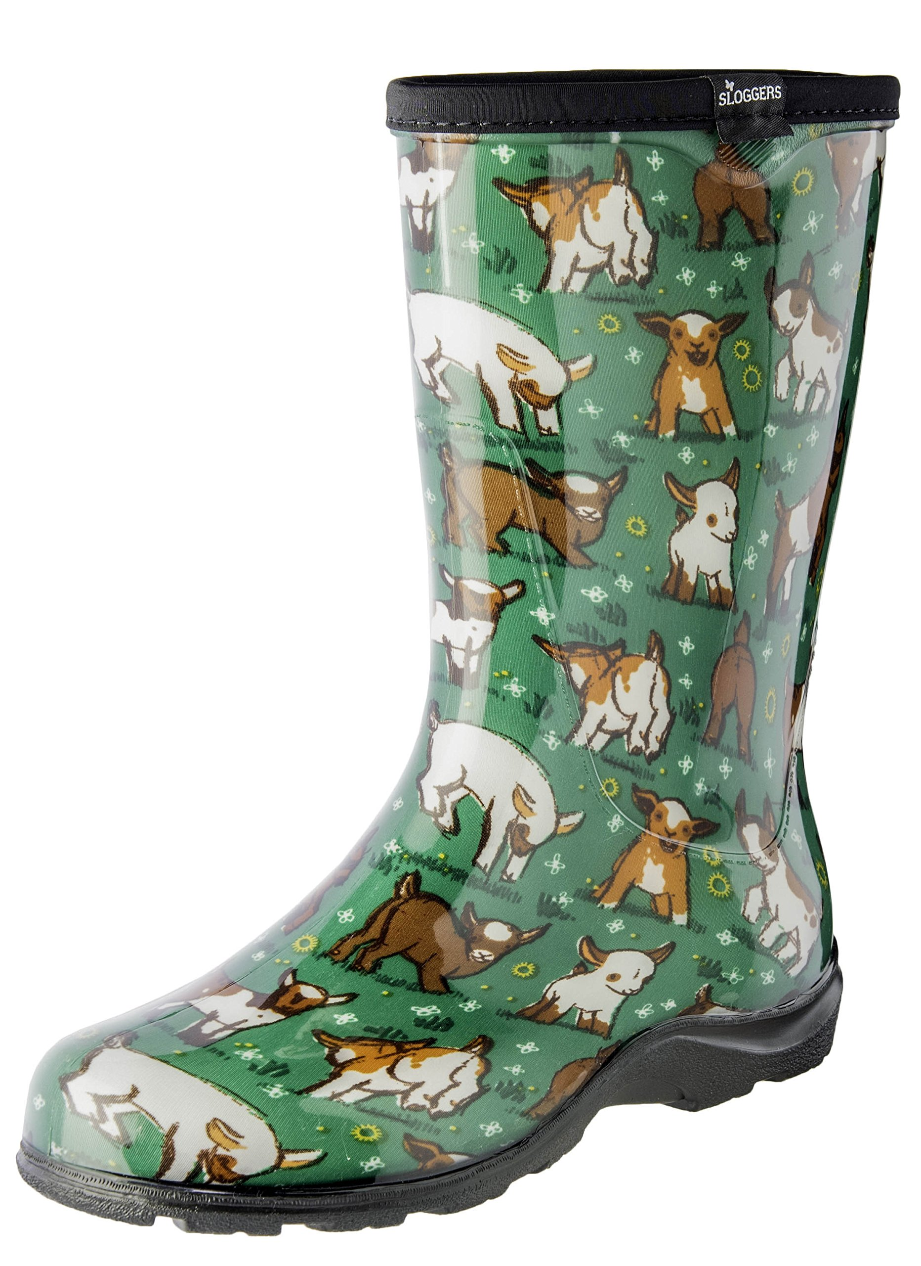 Sloggers Women's Waterproof Rain and Garden Boot with Comfort Insole, Goats Grass Green, Size 8, 5018GOGN08