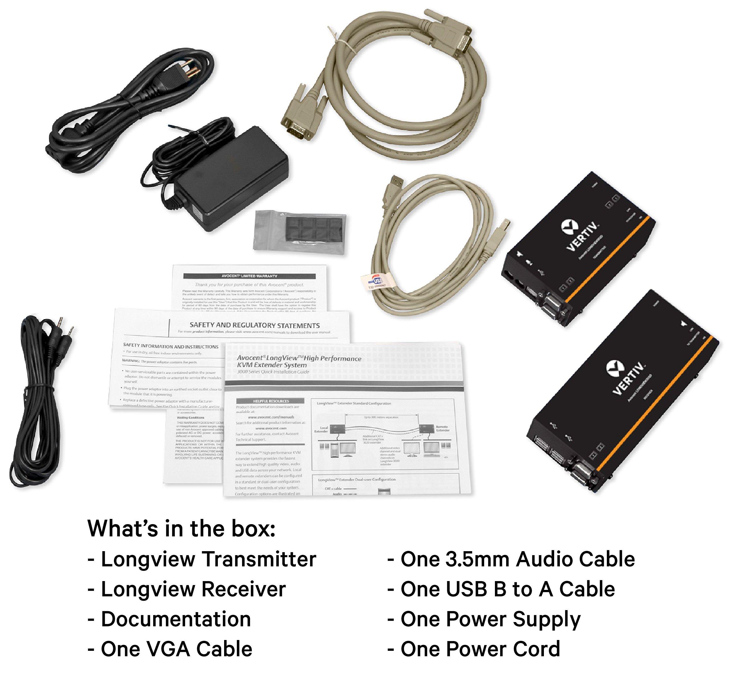 Avocent LV KVM Extender Single VGA, USB, Audio, CATx 300M (LV3010P) by Avocent (Image #6)