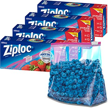 104-Count Ziploc Slider Stand-and-Fill Gallon Storage Bags