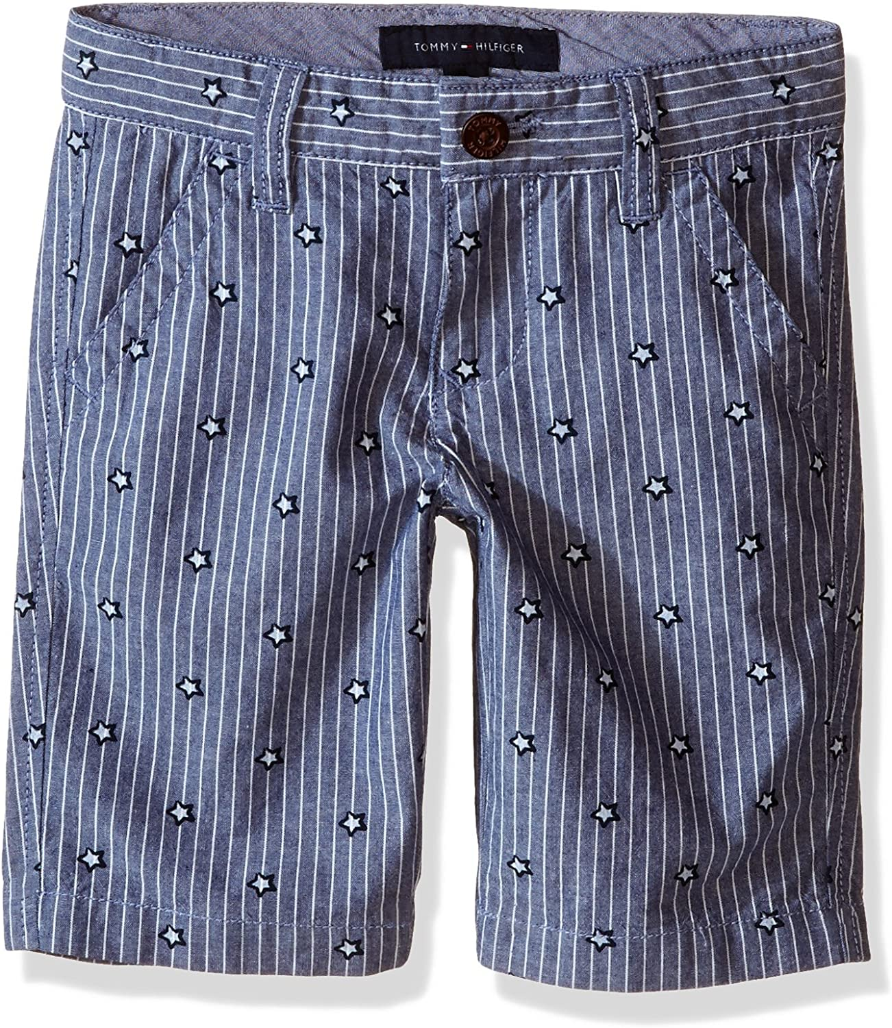 Tommy Hilfiger Boys Stars and Stripes Flat-Front Short