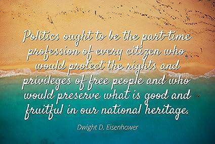 Amazon.com: Dwight D. Eisenhower - Famous Quotes Laminated ...