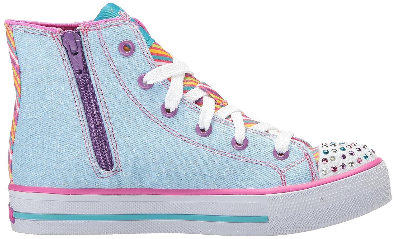 Amazon.com | Skechers Kids Girls Shuffles-Twist NTurns Sneaker, denim/multi, 1.5 M US Little Kid | Sneakers