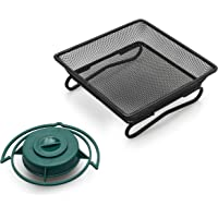 IvyMore Square Metal Mesh Ground Feeding Tray - Compact and Durable Wild Bird Feeder Seed Dish - Complete with…
