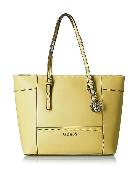 6593e614d698 Guess Delaney Medium Classic Tote EY453523 Citron  Amazon.ca  Shoes    Handbags