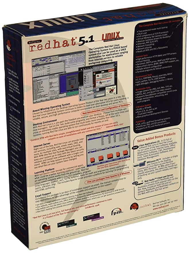 Amazon com: Official Red Hat 5 1 Linux Operating System