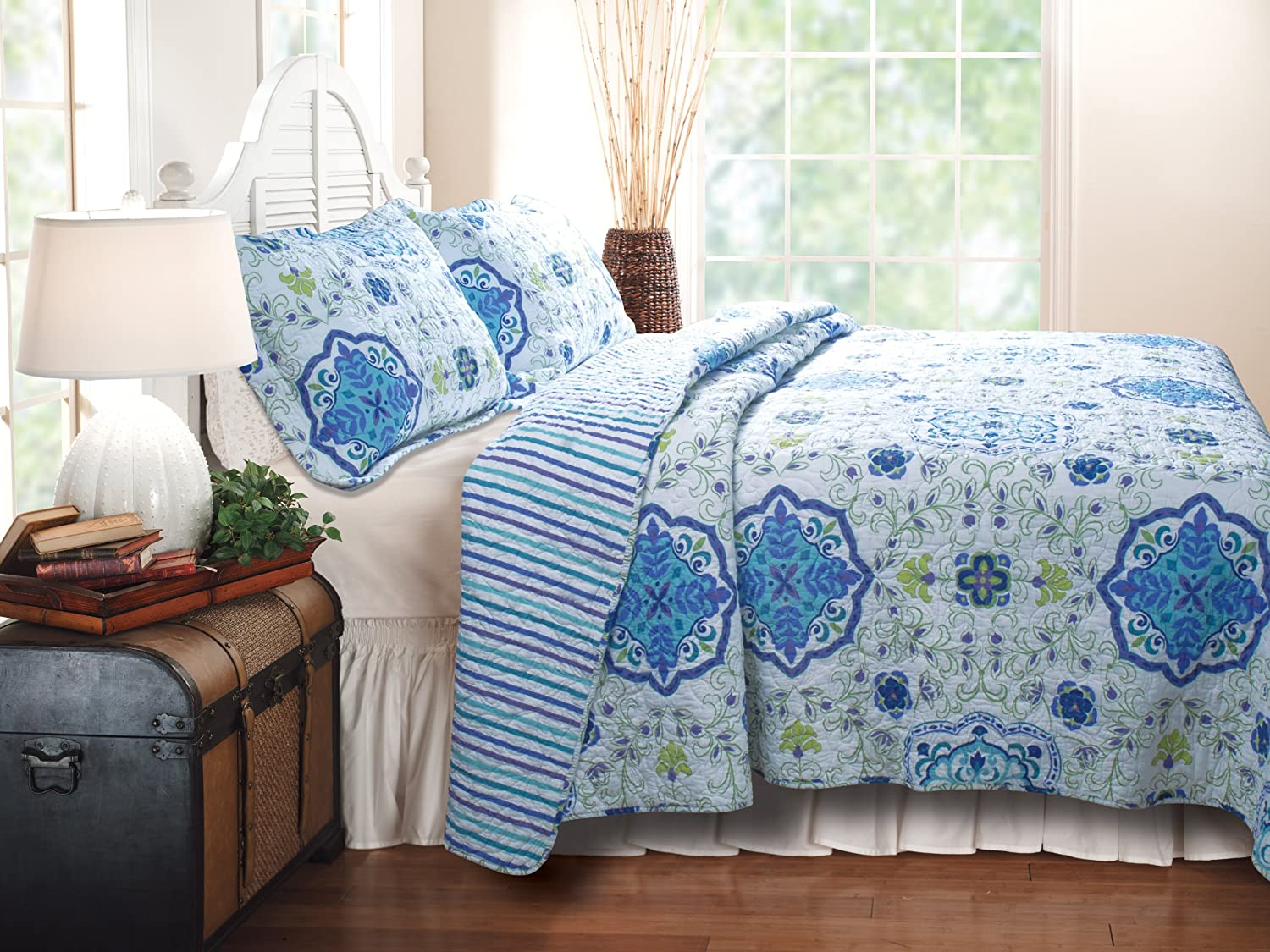 Greenland Home Esprit Capri Quilt Set, King
