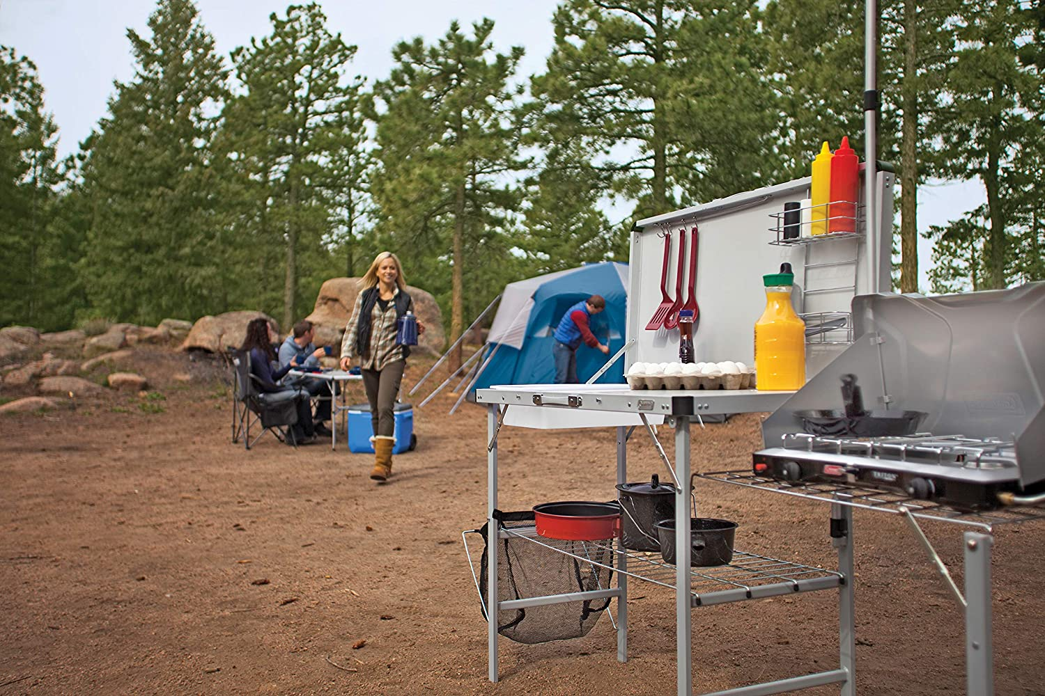 Pack-Away Campfire Kitchen made our list of Campfire Cooking Equipment You Can't Live Without with the best tools, accessories, utensils and cookware for your camp cooking creations!