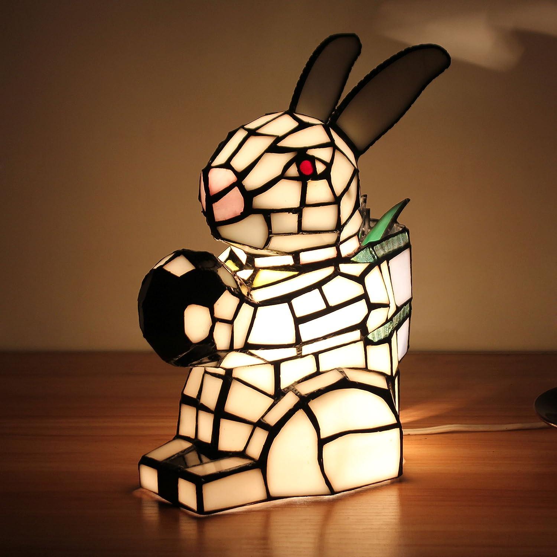 GLP Frisches pastorales weißes Tier Tier Tier mit Kugelschlafzimmer-Nachttischlampe-Kinderlampe-Weihnachtsmuttertag wenig Geschenk-Nachtlicht fe6034